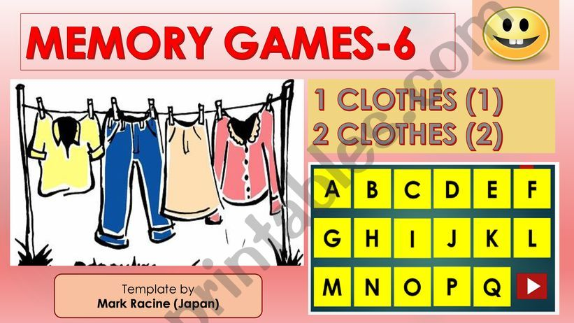Memory (Matching) games SET6 - CLOTHES