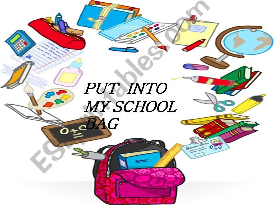 In my school bag powerpoint