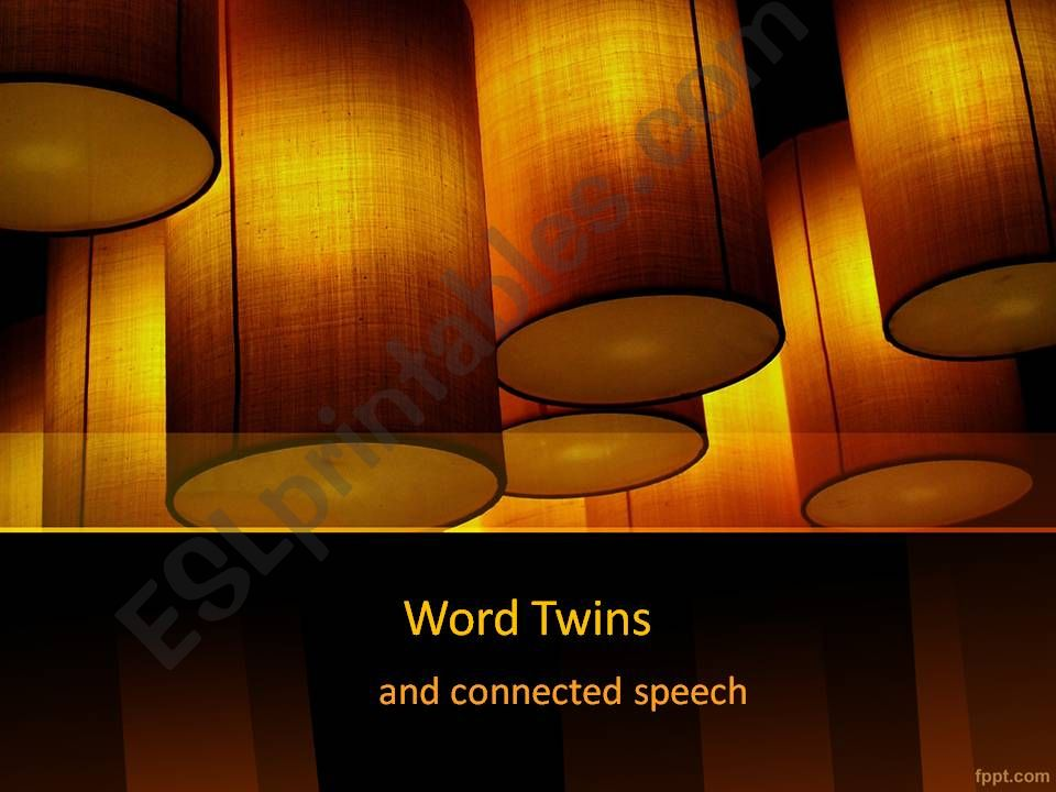Word Twins and Connected Speech