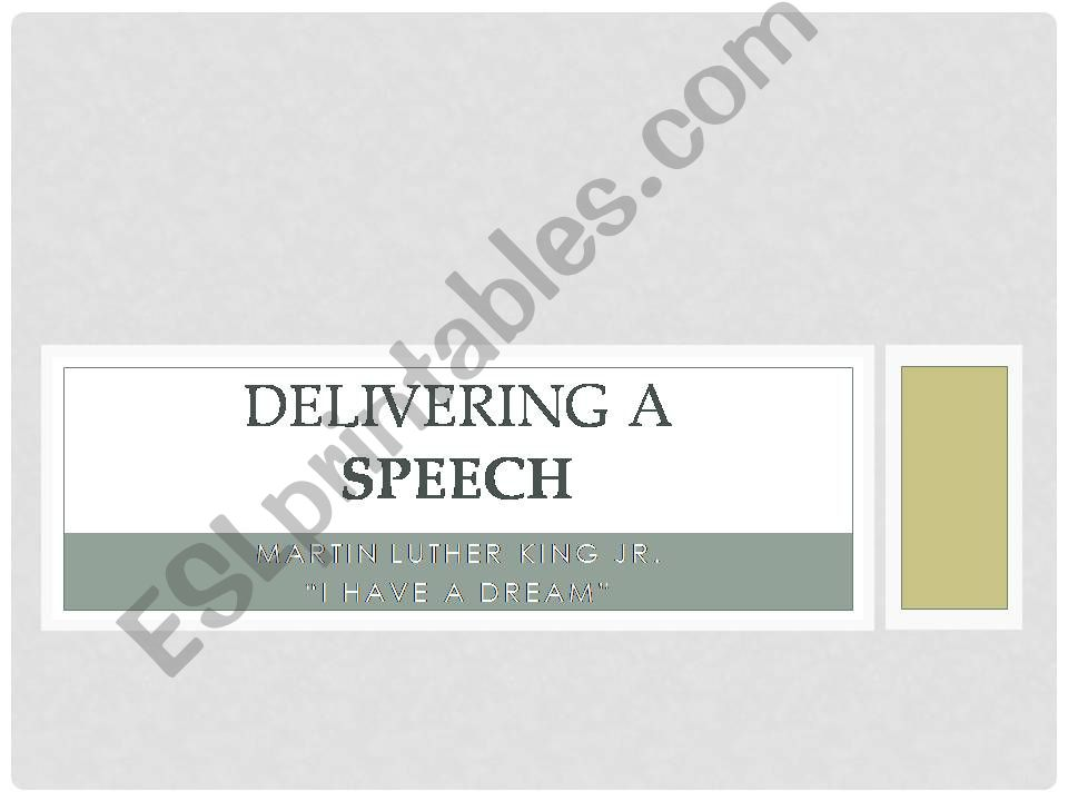 How to Deliver a Speech powerpoint