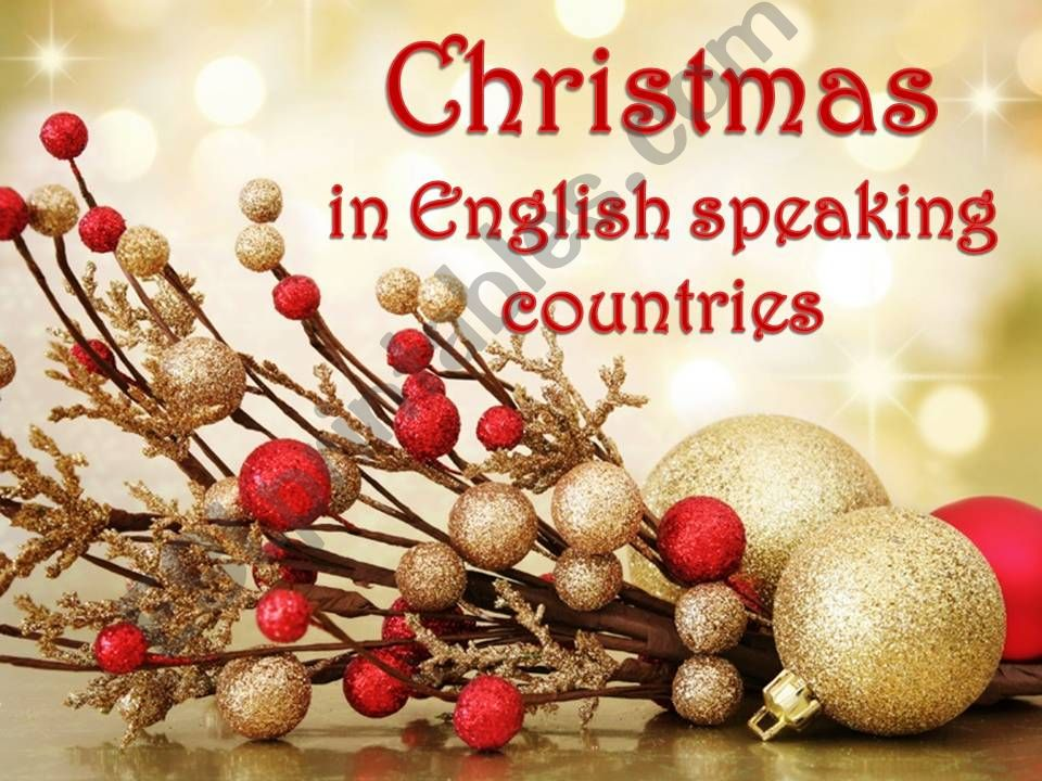 Christmas in English Speaking Countries - part 1