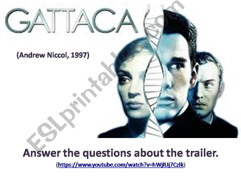 esl - english powerpoints  gattaca