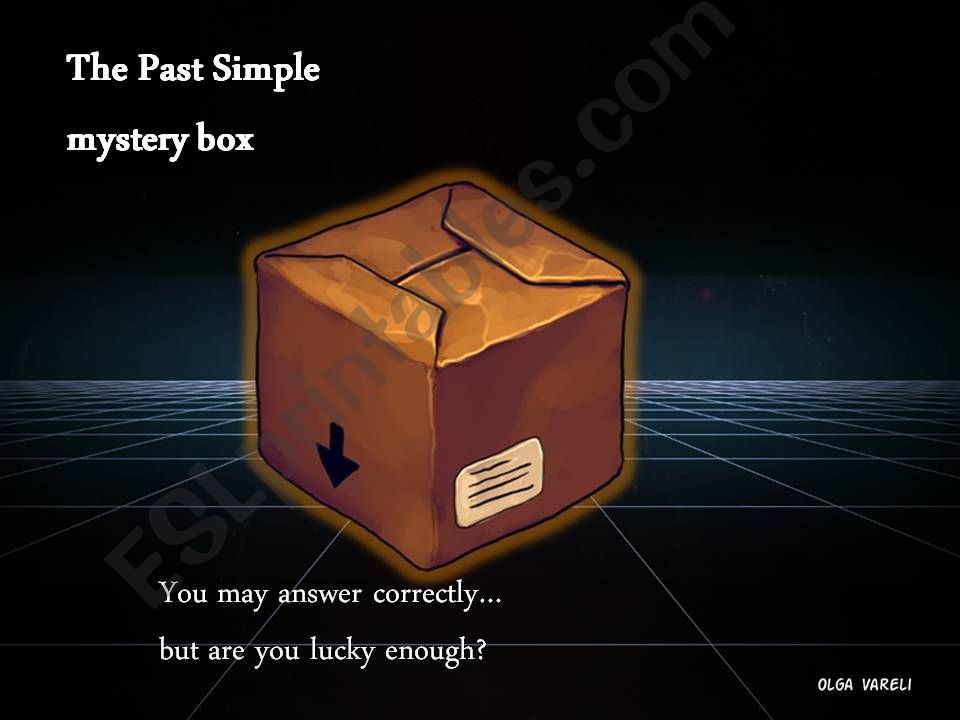 Past Simple Mystery Box powerpoint