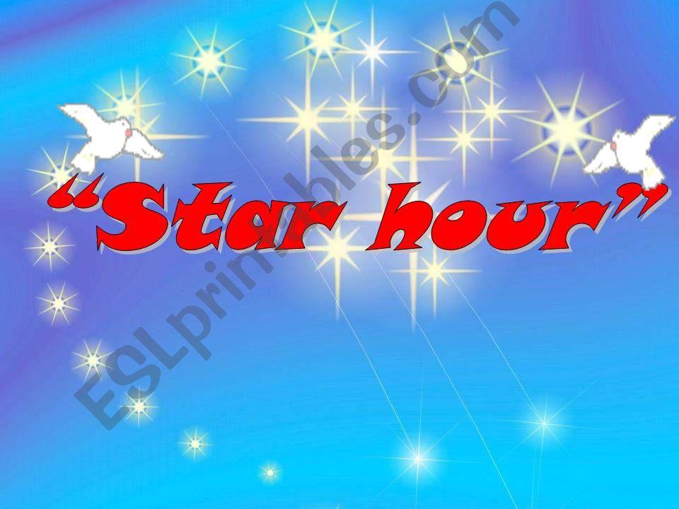 star hour powerpoint