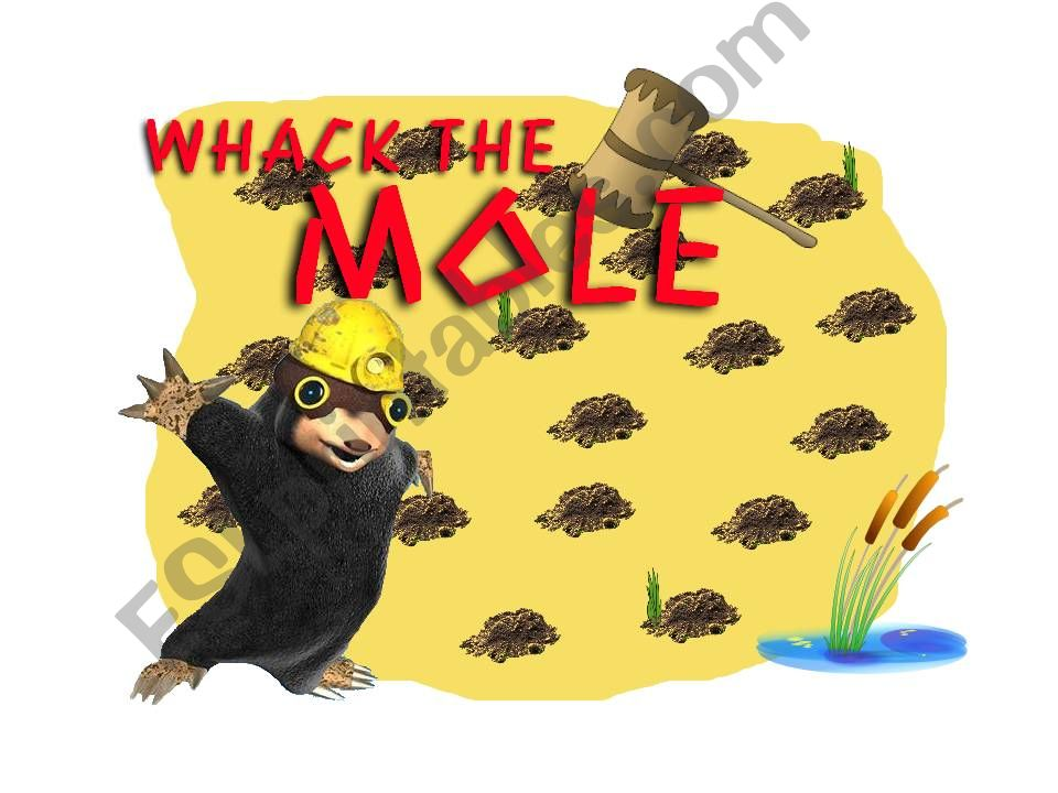 PAST TENSES and PRESENT PERFECT WHACK THE MOLE PART 1
