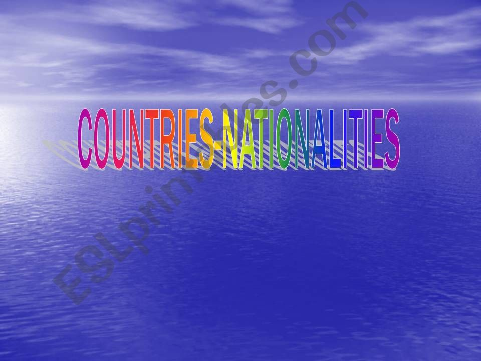 Countries-Nationalities-Flags powerpoint