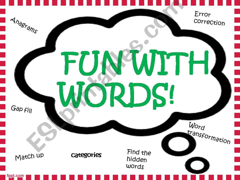 Fun activities with words powerpoint