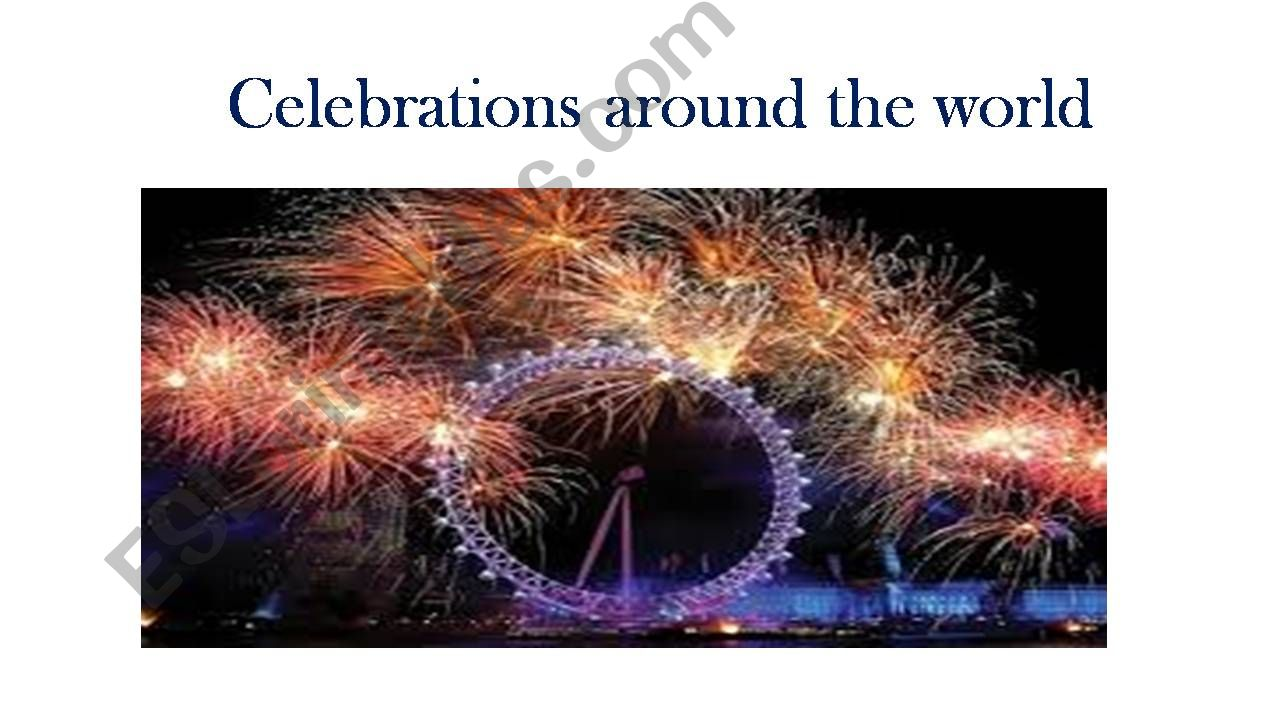 celebration around the world powerpoint