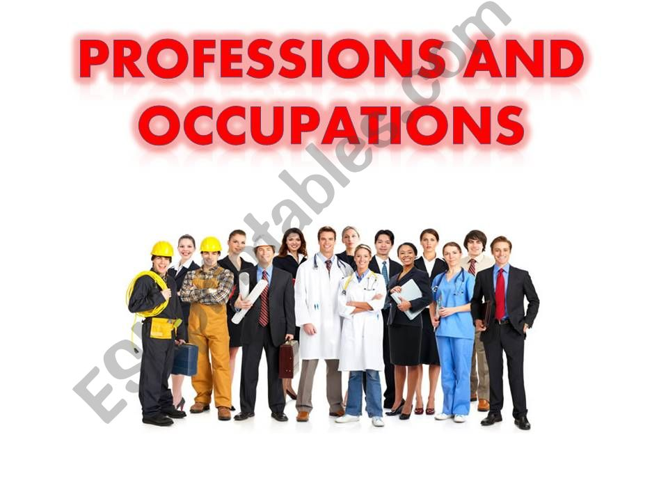 Professions and Occupations powerpoint