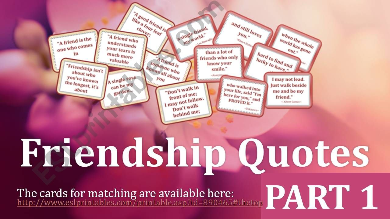 Friendship Quotes Part 1 powerpoint