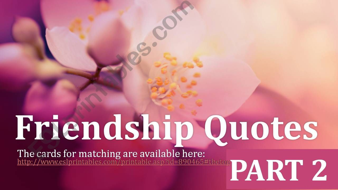 Friendship Quotes Part 2 powerpoint
