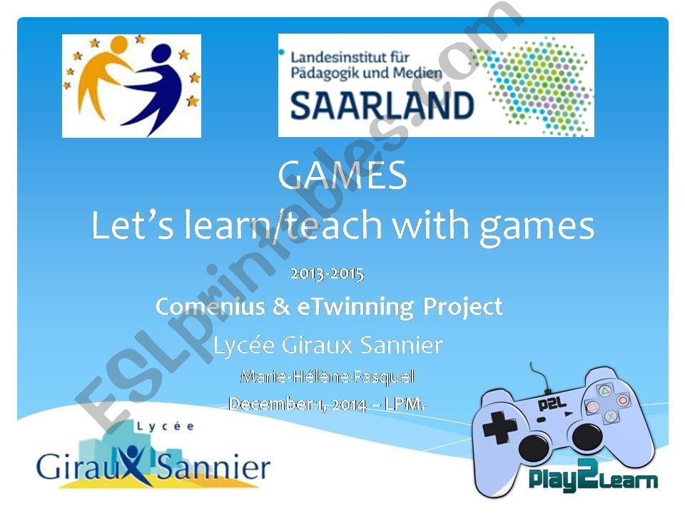 Gamification and learning:) powerpoint