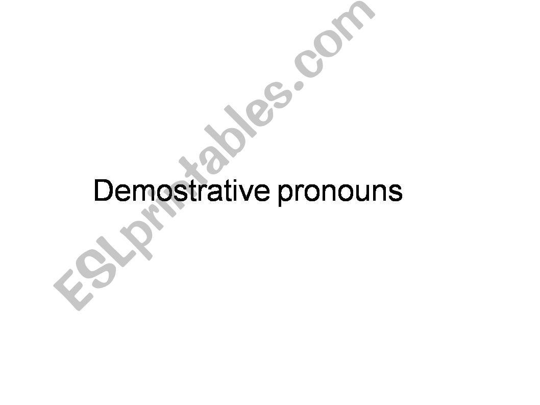 demostratives powerpoint