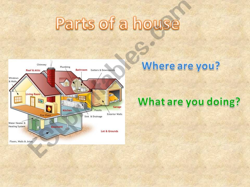Parts of a house 2  powerpoint