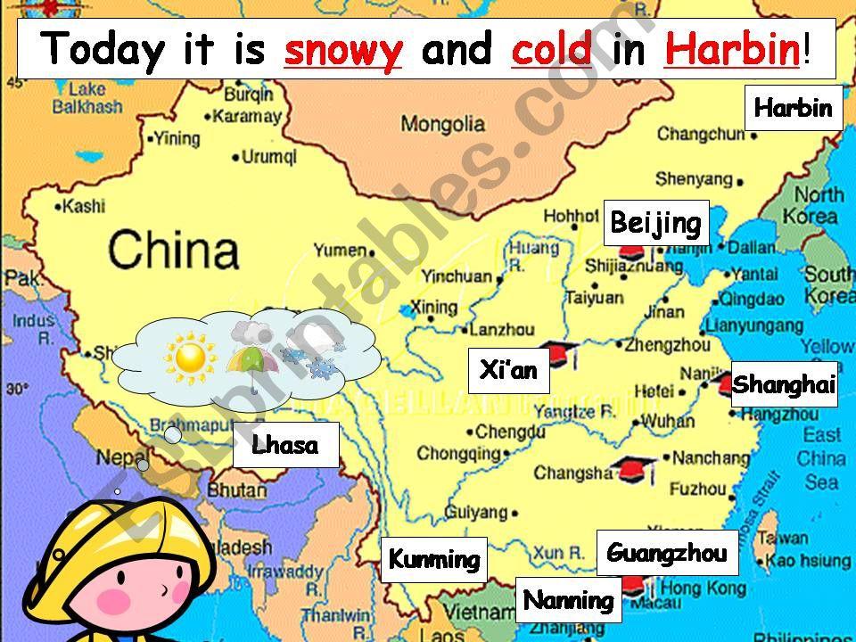 china weather forecast map Esl English Powerpoints China Weather Forecast china weather forecast map
