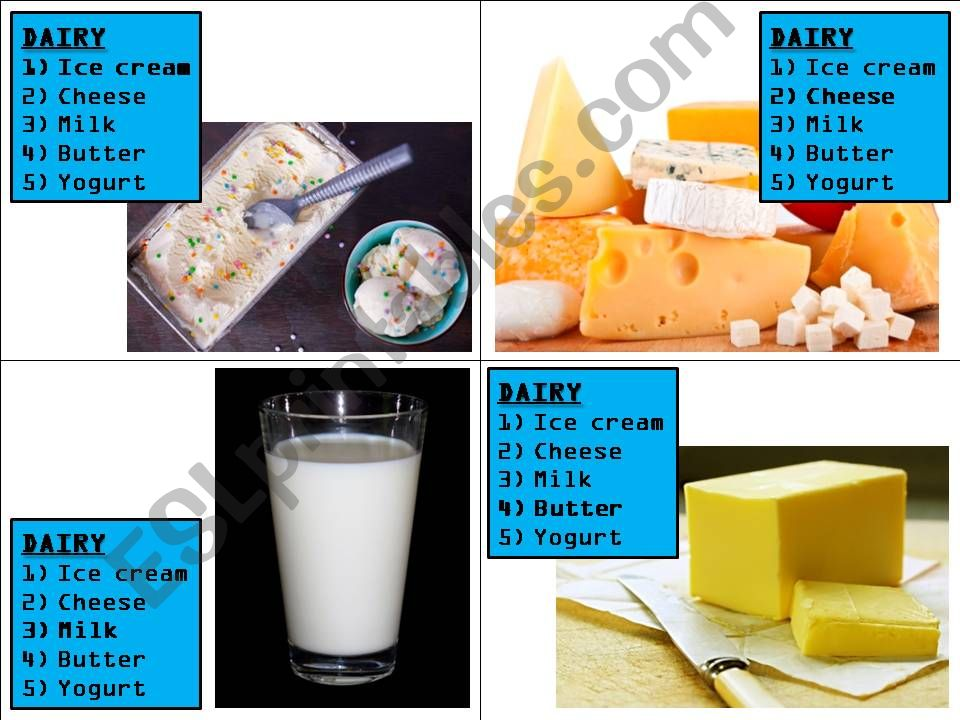 game Happy Families - food powerpoint