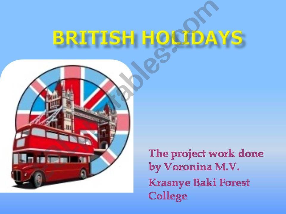 British Holidays powerpoint