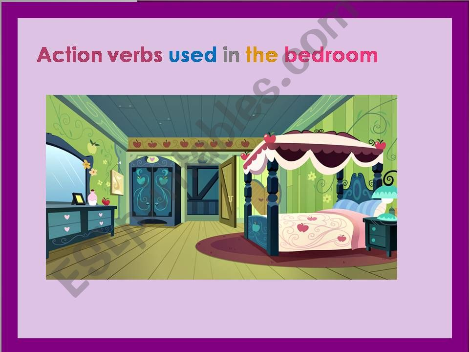 The bedroom: Action verbs used in the bedroom Part 1