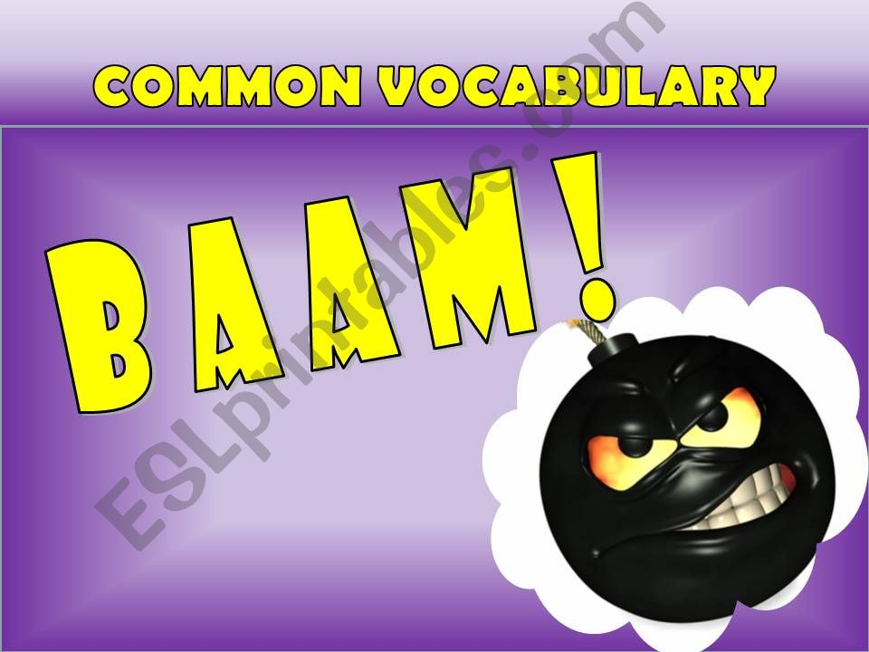 Baam Game: Common Vocabulary part 1