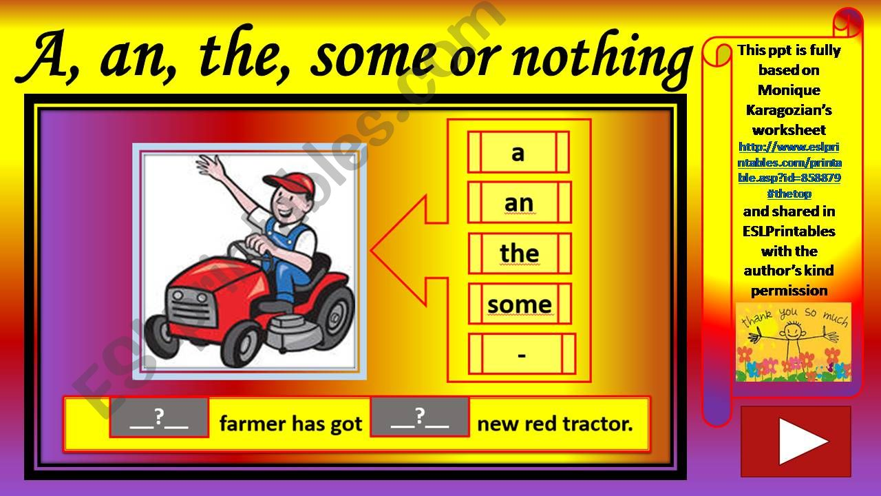 A, an, the, some or nothing powerpoint