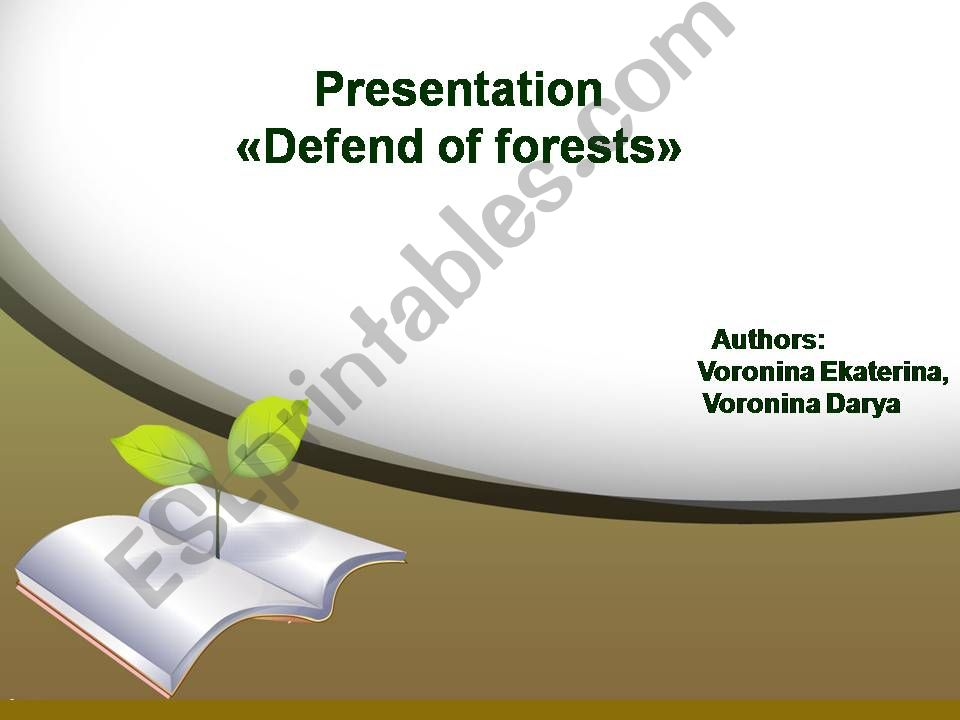 Save the Earth powerpoint