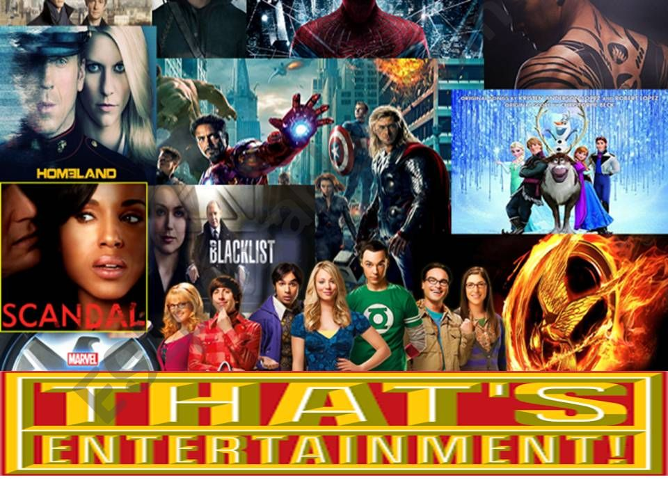 THAT´S ENTERTAINMENT! TV shows and films vocabulary :-)