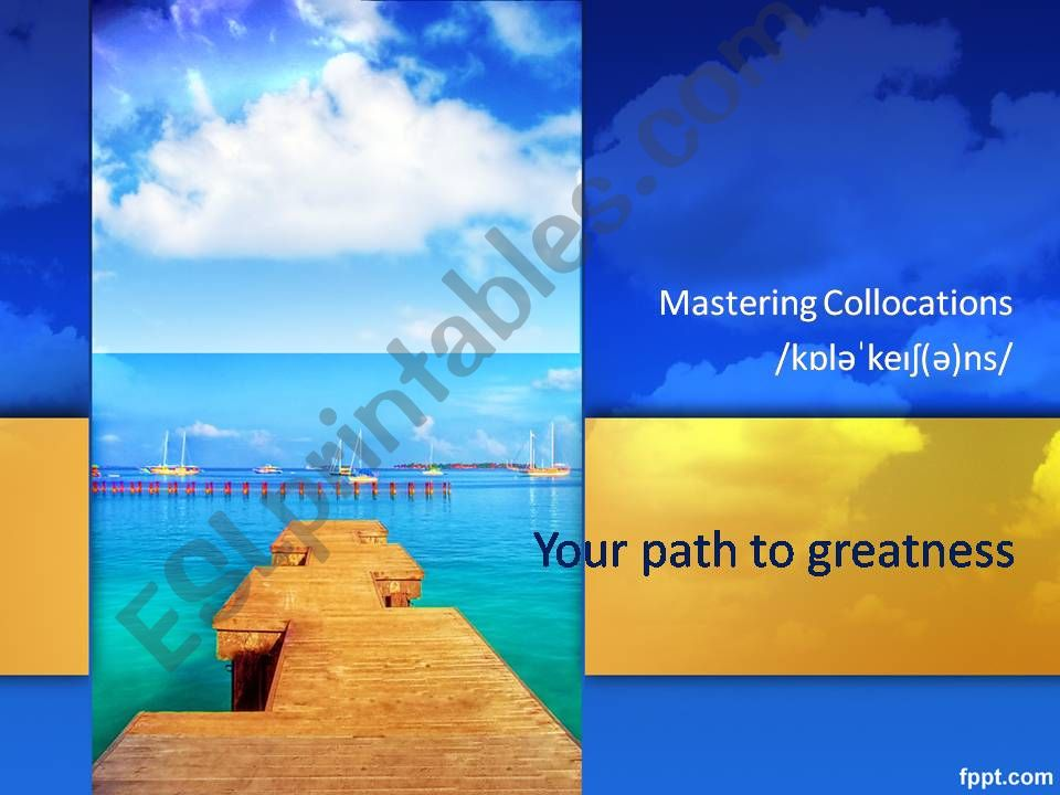 Mastering Collocations powerpoint