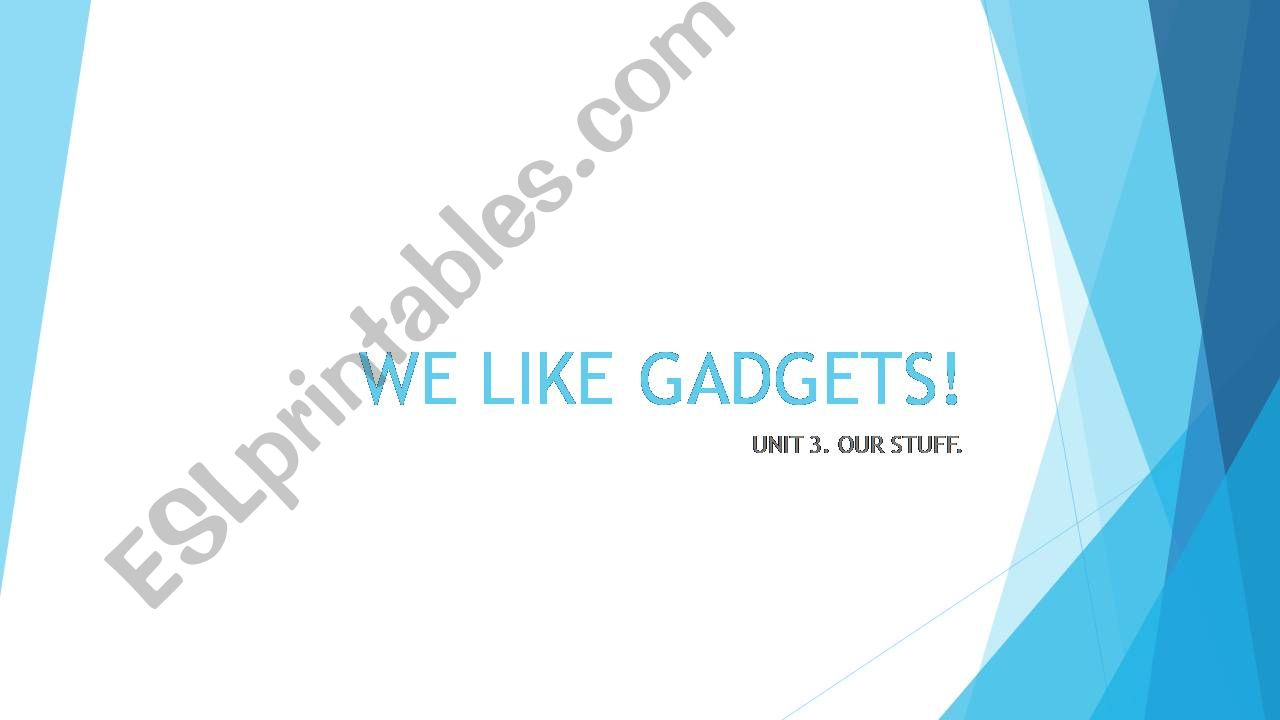 WE LIKE GADGETS. powerpoint