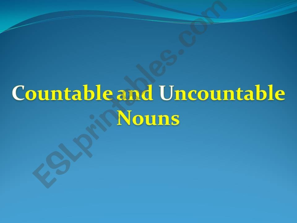 Confusing Countable and Uncountable nouns