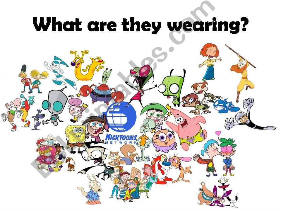 Nickelodeon clothes powerpoint