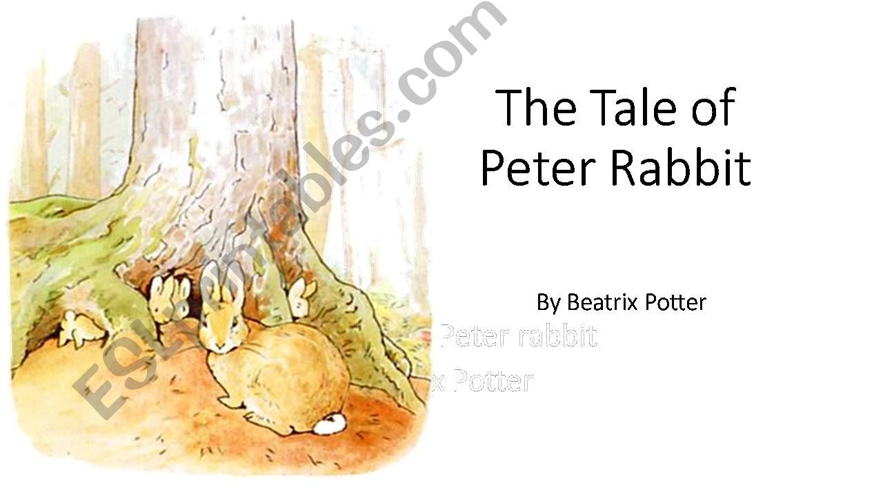 Tale of Peter Rabbit Dialogue powerpoint