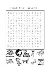 English Worksheets: find the words