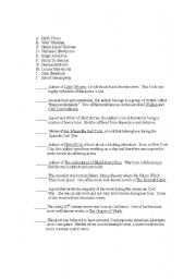 English Worksheets: American Authors