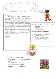 English Worksheet: Past form