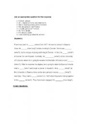 English Worksheets: Information Question Formation
