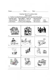 English Worksheet: daily activities/ life events