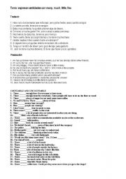 English Worksheets: countable and noncountable