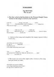 English Worksheets: The Beatles worksheet