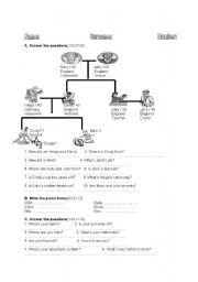 English Worksheet: present forms of