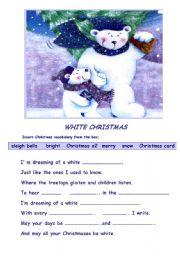 English Worksheet: White Christmas worksheet