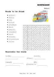 English Worksheets: Wordsearch