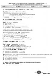 English Worksheets: EXAM QUESTIONS