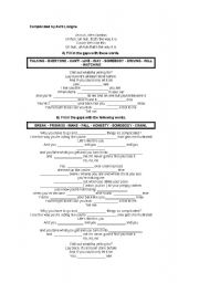 English Worksheets: Complicated by Avril Lavigne