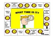 English Worksheet: What time is it game