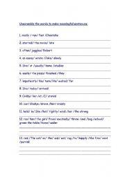 Best Ideas of Word Order Sentences Worksheets For Your Download ...