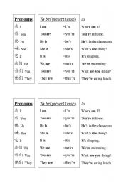 english worksheets present simple of verb to be for chinese students. Black Bedroom Furniture Sets. Home Design Ideas
