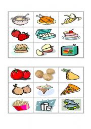 English Worksheet: Food Bingo