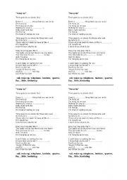 English Worksheet: Song - Hang Up, by Madonna