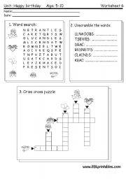 happy birthday reading writing worksheet esl worksheet by victor. Black Bedroom Furniture Sets. Home Design Ideas