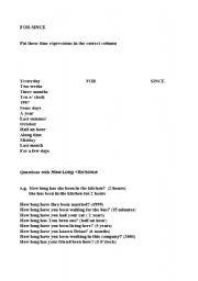 English Worksheets: howlong